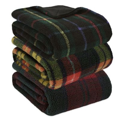 Premier Comfort Paddington Plaid Yarn-Dyed Throw in Green