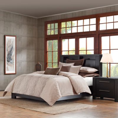 Metropolitan Home Eclipse King Duvet Cover Set in Taupe