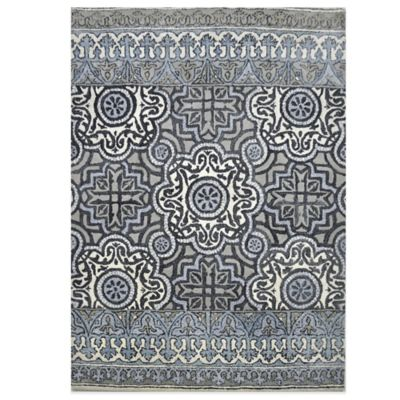 Eva Tufted Wool 8-Foot x 10-Foot Area Rug in Indigo Multi