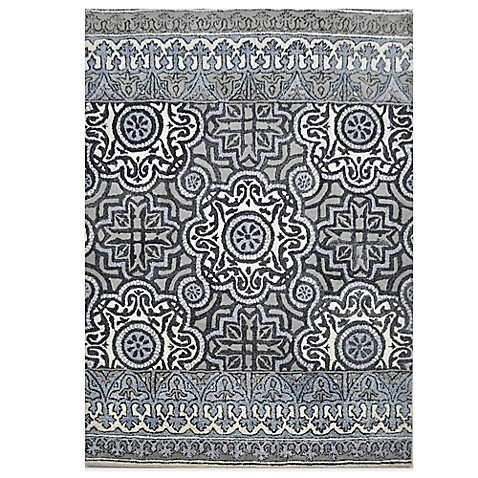 Eva Tufted Wool Rugs In Indigo Multi Bedbathandbeyond Com