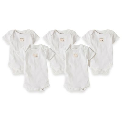 Burt's Bees Baby™ Size 12M 5-Pack Organic Cotton Short Sleeve Bodysuit in Cloud