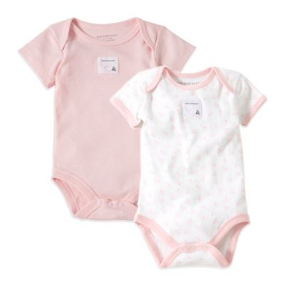 Burt's Bees Baby™ Size 6-9M 2-Pack Organic Cotton Short-Sleeve Bodysuit in Pink Print