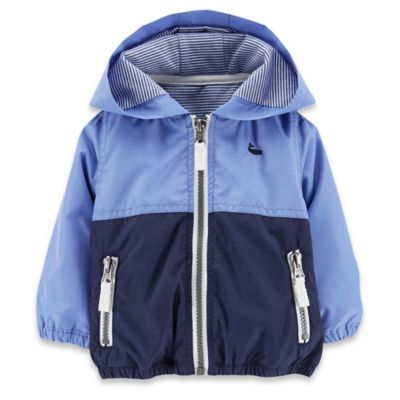 Carter's® Newborn Colorblock Athletic Jacket in Blue/Navy