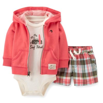 Carter's® Newborn 3-Piece Surf Patrol Bodysuit, Jacket, and Short Set