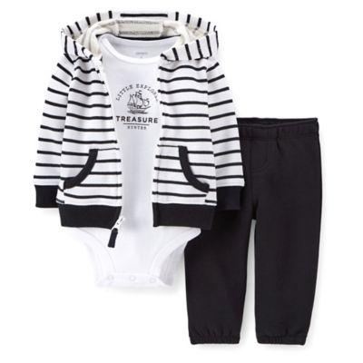 Carter's® Size 18M 3-Piece Treasure Hunter Cardigan, Bodysuit, and Pant Set