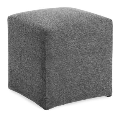 Dwell Home Axis Cube Ottoman in Charcoal