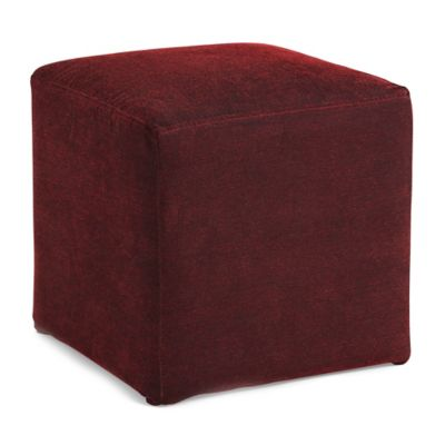 Dwell Home Axis Cube Ottoman in Red