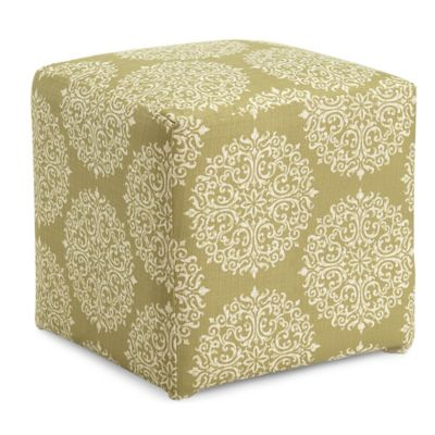 Dwell Home Axis Gabrielle Cube Ottoman in Moss
