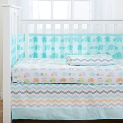 BreathableBaby® Mommy & Me 4-Piece Crib Bedding Set