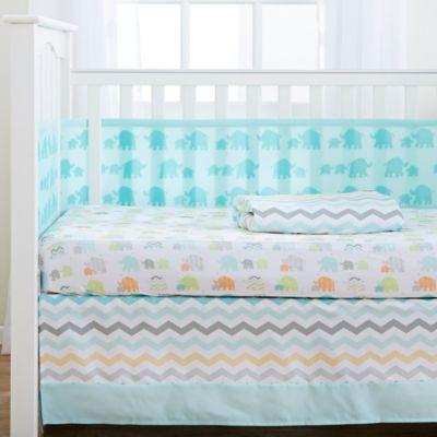 4-Piece Green Crib Bedding Set