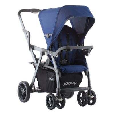 Joovy® Caboose VaryLight Graphite Double Stroller in Blueberry