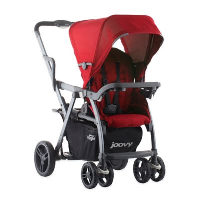 Joovy® Caboose VaryLight Graphite Double Stroller in Red