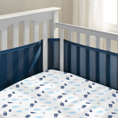 BreathableBaby® Breathable Mesh Crib Liner in Navy Mist