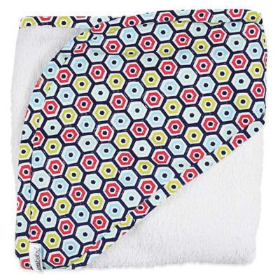 iotababy! 2-Piece Hooded Towel & Washcloth Set in Loverboy