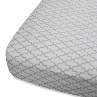 Oliver B Mix & Match Fitted Crib Sheet in Grey Trellis