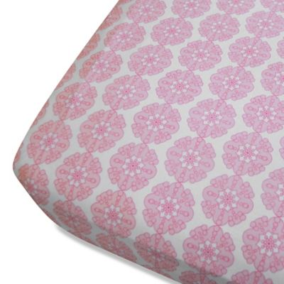 Oliver B Mix & Match Fitted Crib Sheet in Pink Petals
