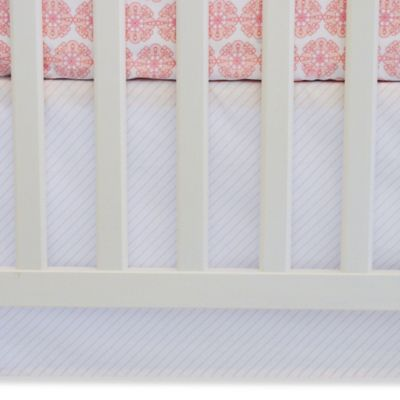 Pink Stripe Crib Skirt