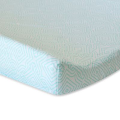 Oliver B Mix & Match Changing Pad Cover in Sea Green Stems