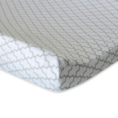 Oliver B Mix & Match Changing Pad Cover in Grey Trellis
