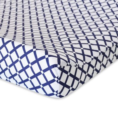 Oliver B Mix & Match Changing Pad Cover in Navy Check