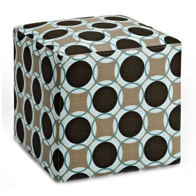 Dwell Home Axis Aura Cube Ottoman in Pool