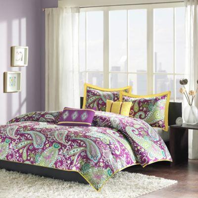 Melissa Reversible Twin/Twin XL Comforter Set in Purple