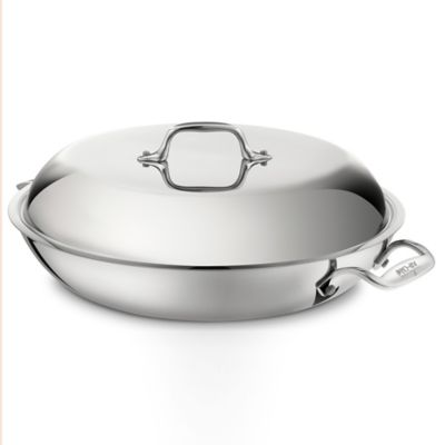 All-Clad Stainless Steel 4-Quart Covered French Braiser