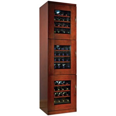 Wine Enthusiast Trilogy 48-Bottle Left-Hand Hinged Door Wine Cellar in Mahogany