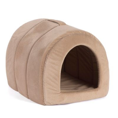 Best Friends by Sheri Small Embossed Igloo Pet Bed in Wheat
