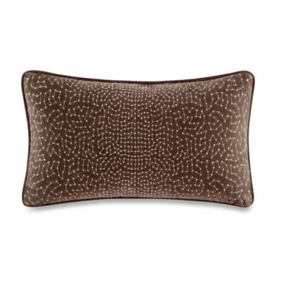 Metropolitan Home Eclipse Oblong Throw Pillow in Brown