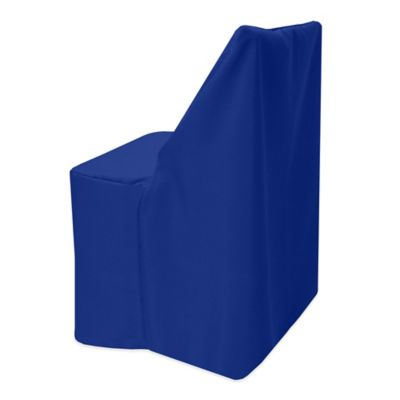 Basic Polyester Cover for Wood Folding Chair in Cobalt