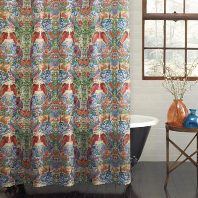 PEVA Freedom Flag Shower Curtain