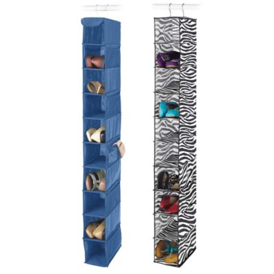 Whitmor Kids' 10-Pair Hanging Shoe Shelves in Zebra