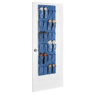 Whitmor Over the Door Shoe Organizer in Primary Blue
