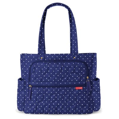 Navy Dot Diaper Bags