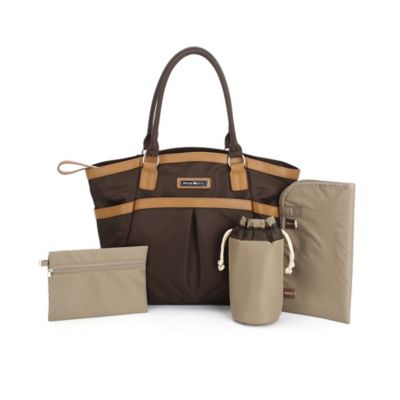 Perry Mackin Harper Diaper Bag in Brown