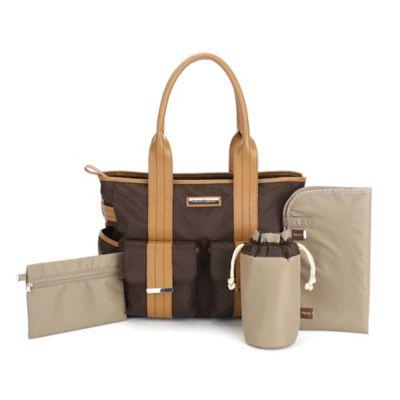 Perry Mackin Zoey Diaper Bag in Brown