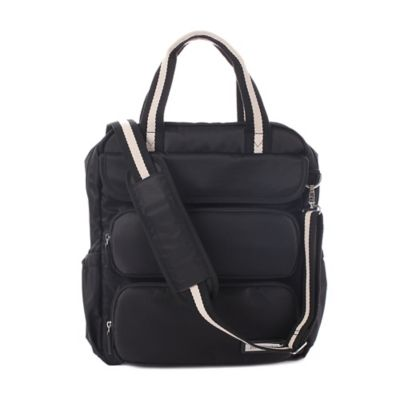 Perry Mackin Madison Backpack Diaper Bag in Black