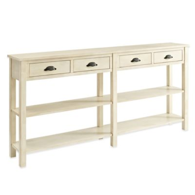 Powell Crackle Console in Cream