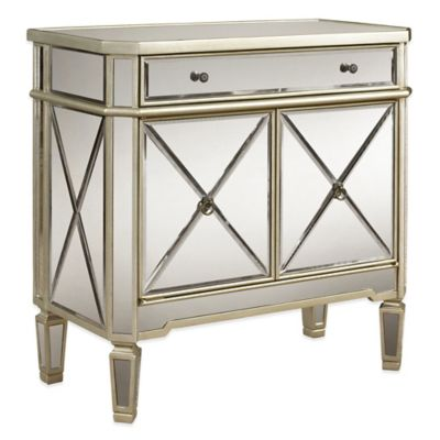 Powell Mirrored 1-Drawer 2-Door Console
