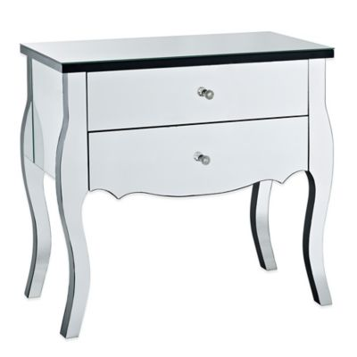 Powell Mirrored 2-Drawer Console