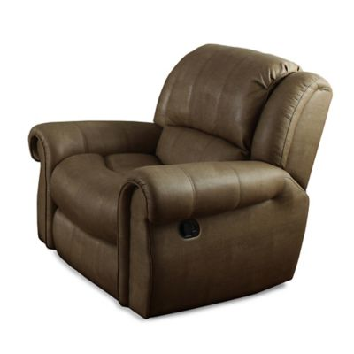 Pulaski Ventura Glider Recliner in Ghostown Cognac
