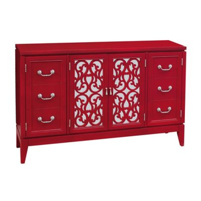 Pulaski Sirsa Console in Red