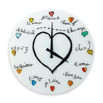 NeXtime Loving You Wall Clock in White