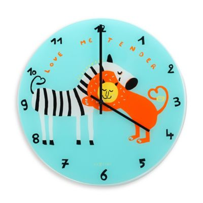 "NeXtime ""Love Me Tender"" Wall Clock in Teal"