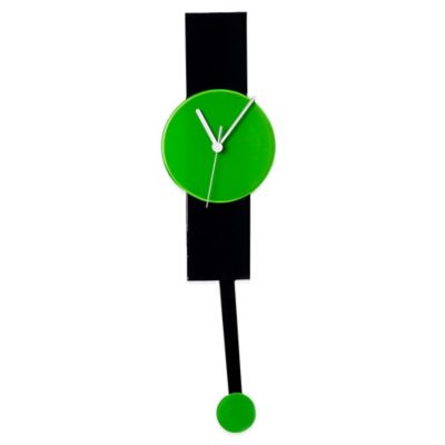 Veritas Handmade Wall Clock in Black/Green