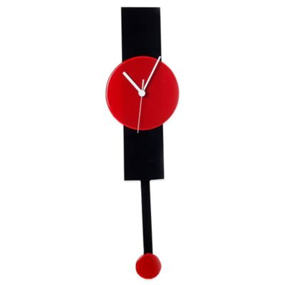 Veritas Handmade Wall Clock in Red/Black