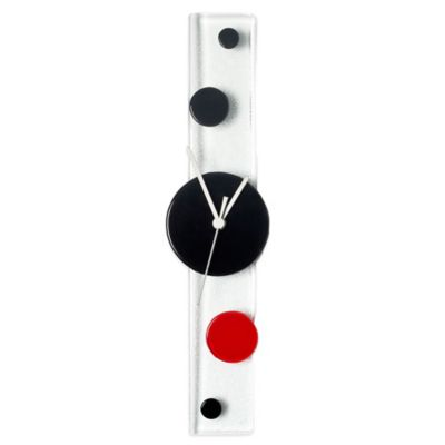 Veritas Handmade Dots Wall Clock in Red/Black/White