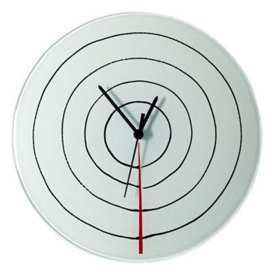 Veritas Handmade Circles Glass Wall Clock in White