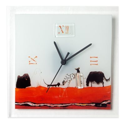 Veritas Handmade Dogs Glass Wall Clock